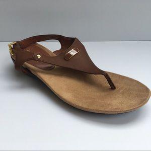 Ralph Lauren Kacy Sandal Gold Tone Size 9.5 B